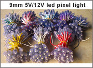 5V 9mm Push through hole Static Colour LED Pixels for illumination signage