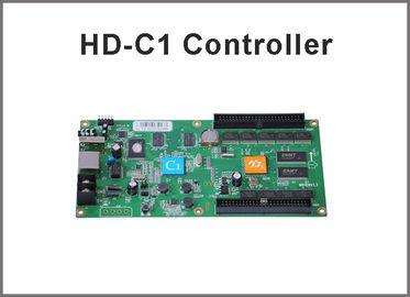 China HD-C1 Asynchronous Video Full Color LED Control Card USB+Ethernet Port Suppor Indoor & Outdoor P10, P5 etc Module factory