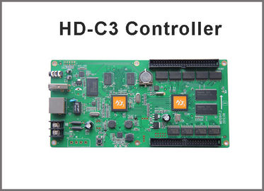 China Asynchronous RGB led display controller HD-C3 internet+usb port 384 width x 256 height with 1hub 75 board factory