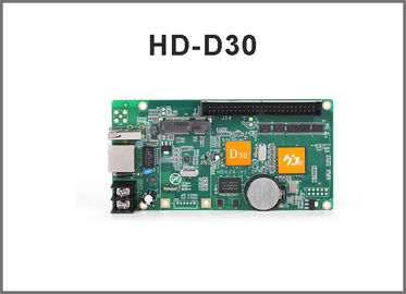 China HD-D30 asynchronous led screen control card for full color led display 256 grade grey scale led panel controller 1024*64 factory