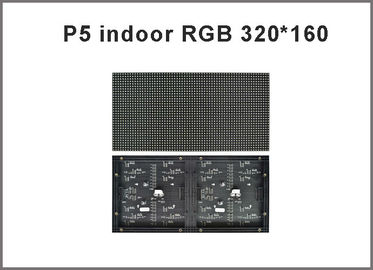 China 320*160mm 64*32pixels 1/16 Scan Indoor SMD2121 3in1 RGB full color P5 LED module for indoor LED display screen distributor