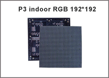 China P3 SMD Indoor rgb led module 192*192mm 64*64 pixels 1/16 Scan 3mm Full color LED display screen video led panel board distributor