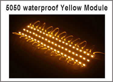 China Super Bright Waterproof 20pcs/lot SMD 5050 3 LED Modules yellow color IP65 Led lamps DC12V For Billboard distributor