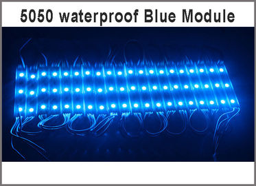 China 12V LED Module Blue 3leds clear lens Injection Molding injection advertising modules backlight led factory