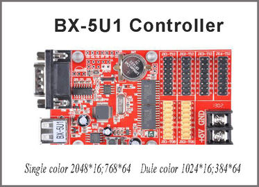 China LED USB port led controller card BX-5U1 32*1024 pixel Onbon single color led control card led message sign board outdoor distributor