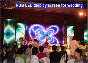 China 3 in 1 RGB display screen P5 display module video advertising display board for wedding palace hotel stage distributor