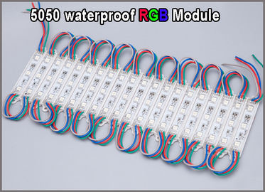 China 5050 RGB LED Module 12V waterproof RGB colorchanging led modules lighting for advertisment signage distributor