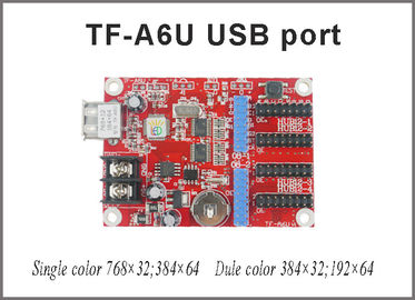 China TF-A6U USB led controller p10 display single & dual color control card 768*32,384*64 pixels support for led board distributor