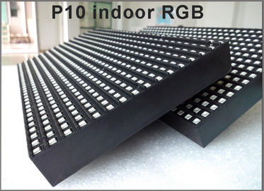 China Indoor P10 SMD RGB LED Sign Moving Message Display Temperature and time display SMD fullcolor LED Matrix Display Module distributor