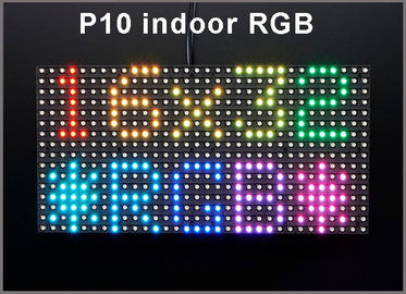 China P10 indoor RGB SMD LED Module 320*160mm 32*16pixels for full color LED display Scrolling message LED sign P10 Panel distributor