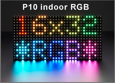 China P10 RGB SMD Indoor high brightness full color video led display screen modules 32*16dots 320mm*160mm HUB75 distributor