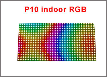 China Indoor 320*160mm 32*16pixels 3in1 SMD 1/8 scan RGB P10 full color LED module for Advertising media LED Display distributor