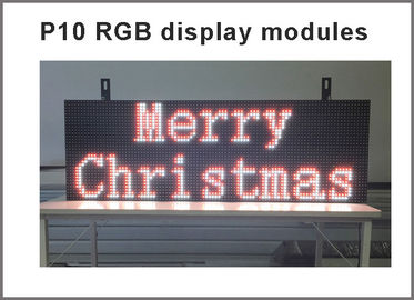 China P10 RGB led Scrolling display message board Outdoor full color LED display Support USB programmable for led sign distributor
