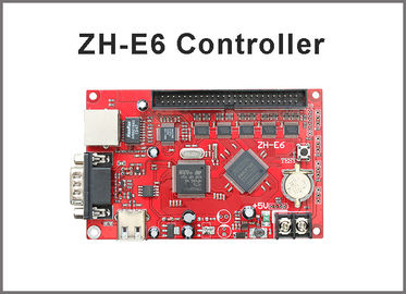 China ZH-E6 control card Network+USB+RS232 Port 256*2048 Pixels 1xpin50 Single & Dual color LED Display Controller Card factory