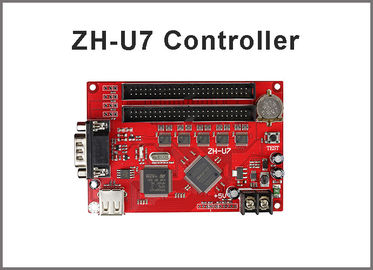China ZH-U7 led control card USB+RS232 2xpin50 for for P10 single & dule color advertising led sign display controller system factory