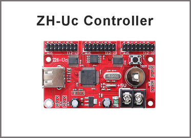 China ZH-Uc LED Control Card P10 LED Screen module led Controller USB port 512*48,768*32 pixels 3*hub12 port control system distributor
