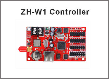 China ZH-W1 wireless wifi LED Controller Card for Single,Dual,Full Color display modules U disk 32*1536,48*1024 pixels factory