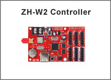 China ZH-W2 wifi LED controller wifi+USB communication led sign control card 1024*64pixels support P10,p13.33,p16,p20,p4.75 factory