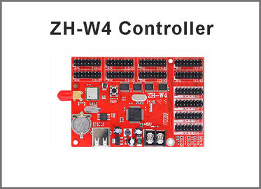 China ZH-W4 led wifi controller card 800*128 pixels with USB port for p10 module panel led moving programble sign factory