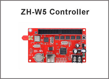 China ZH-W5 Wifi led control card usb support 128*1280,256*640 pixels led monochrom,rgb,dual panel control system factory