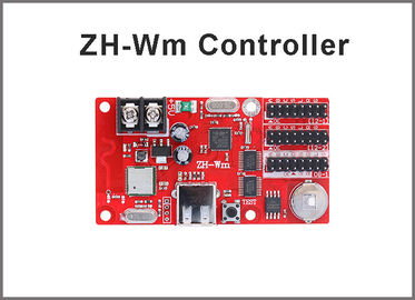 China ZH-Wm wifi+USB communication led control card 512*32 pixels U disk wireless LED Panel controller for display module factory