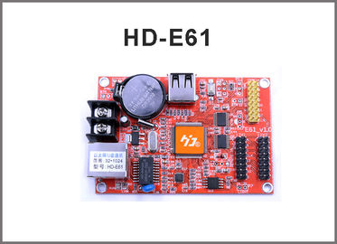 China HD-E61 network control card RJ45 +USB port Single and Double Color LED Display Module Control Card factory