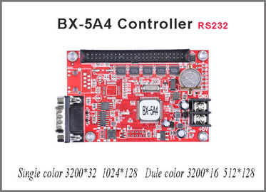 China Asynchronous RS232 BX-5A4 led sign controller for single/dual color Lintel LED message text display factory