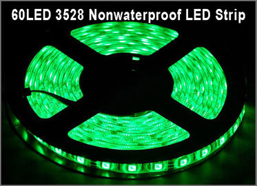 China 3528 led tape Green color 60led/m Non-waterproof IP20 DC12V led lamp for Home Decoration distributor