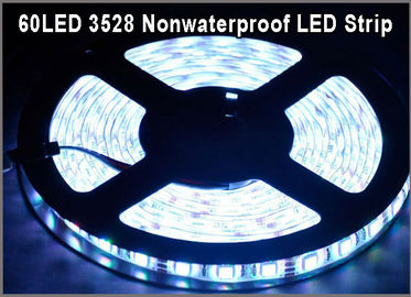 China Non-waterproof LED Strip 5M 60Leds/m 3528 SMD white Flexible Light LED Tape Party Decoration Lamps distributor