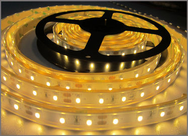 China 3528 strip led light 12VDC waterproof IP65 LED Flexible Lights for outdoor decoration Yellow color distributor