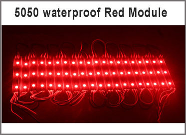 China 5050 SMD 3 LED module red modules 12V advertising lighting Waterproof IP67 75*12*05  0.8w/pcs factory