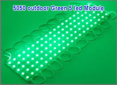 China 20PCS 5050 5 LEDs LED Modules Green Waterproof Light Advertising lamp DC12V Wholesale factory