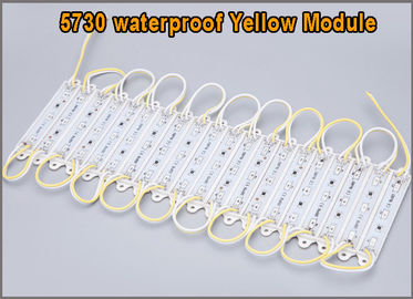 China 20pcs 5730 LED Module DC12V 3 LEDs Waterproof Outdoor light Backlight for billboard yellow High lumens distributor