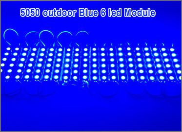 China DC12V 5050 SMD 6 LED Module  Waterproof Decorative Hard Strip Bar Light Lamp Blue factory