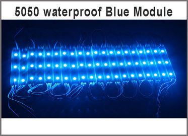 China 20pcs DC 12V 5050 SMD 3 LED Module blue Waterproof IP65 Super Bright LED Module light for Signage Advertising distributor