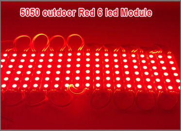 China 20PCS/Lot LED 5050 6 LED Module 12V waterproof Red Color led modules lighting distributor