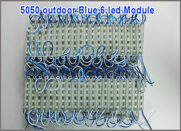 China 12V led channel letters 5050 pixel module 6 led modules blue color factory