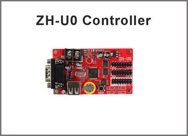 China 5V display controller ZH-U0 RS232+USB port led display module programmable control cards factory