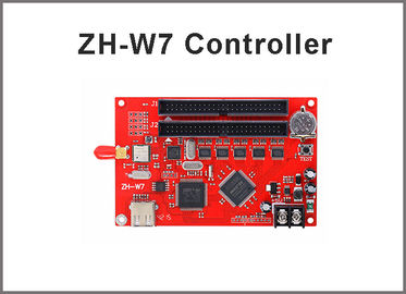 China led controller card ZH-W7 WIFI  2048*256 pixels asynchronous led control system for single ,dual,full color led screen factory