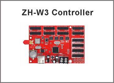 China Zhonghang wifi control ZH-W3 USB & WIFI 4*HUB08+8*HUB12 2048*32 Single & Dual color LED controller card distributor