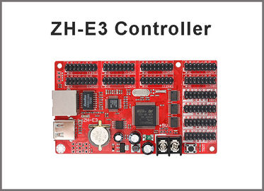 China LED Display Controller Card ZH-E3 Network+USB Port 4*HUB08 & 8*HUB12 1024*64 Pixels Single & Dual color distributor