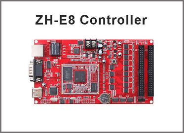 China ZH-E8 LED display module system Network+USB+RS232 Port 256*4096,512*2048 Pixels Single & Dual color module control card distributor
