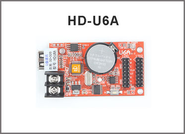 China Hot sell HD-U6A HuiDu card USB monochrome &Two color 320*32pixel p10 led screen module support controller factory