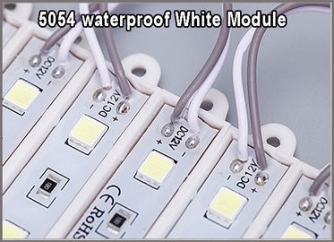 China 5054 monochrome backlit white SMD modules 3 leds 12V waterproof for outdoor signage distributor