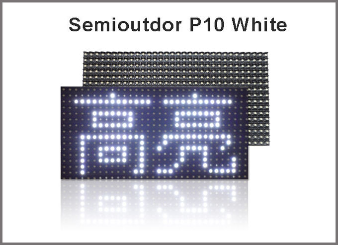 Semi-Outdoor DIY LED Display P10 White Color LED Display Module  message display screen