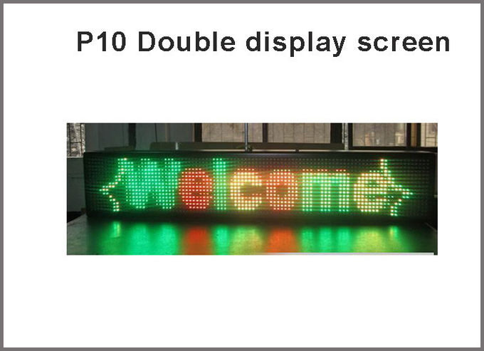 Semioutdoor DIP P10 1R1G led display panel Double Color 320*160mm Scrolling Message Text LED Sign