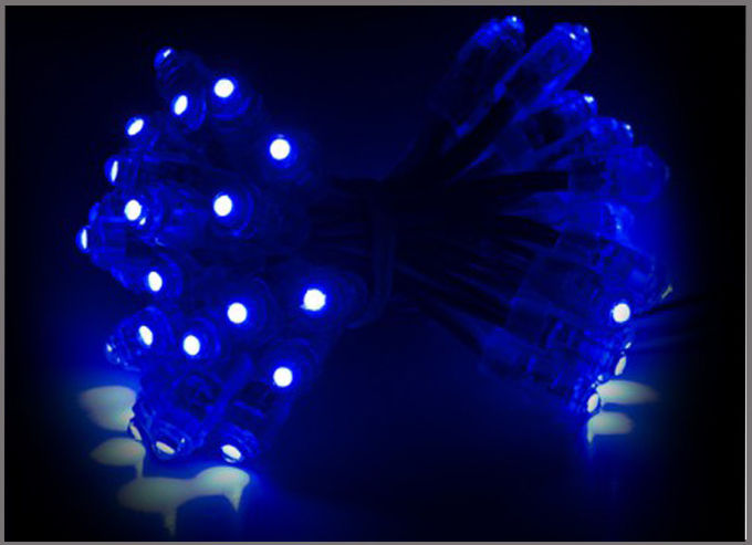 9mm Exposed led Light String 5V Blue LED Light 50pcs/string for Shop Billboard Decoration