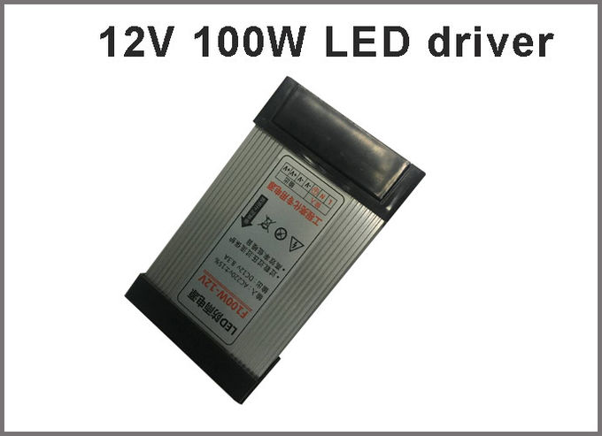 Switching led power supply 12V 100W rainproof drivers for outdoor led signboard