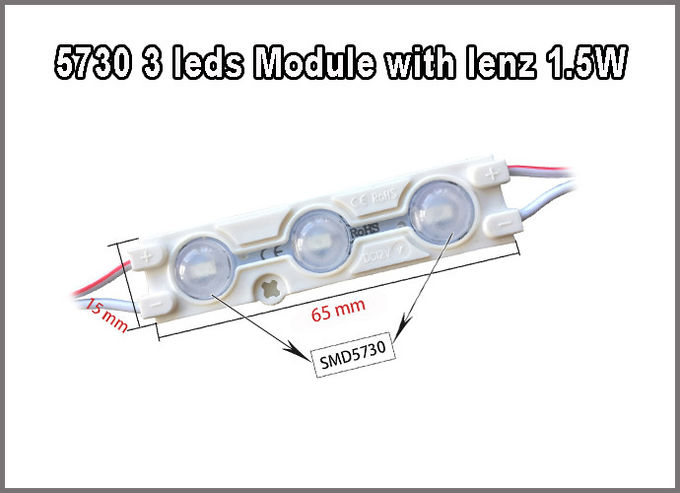 DC12V 1.5W LED injection module with lenz lighting source for Advertising backlight led channel letters
