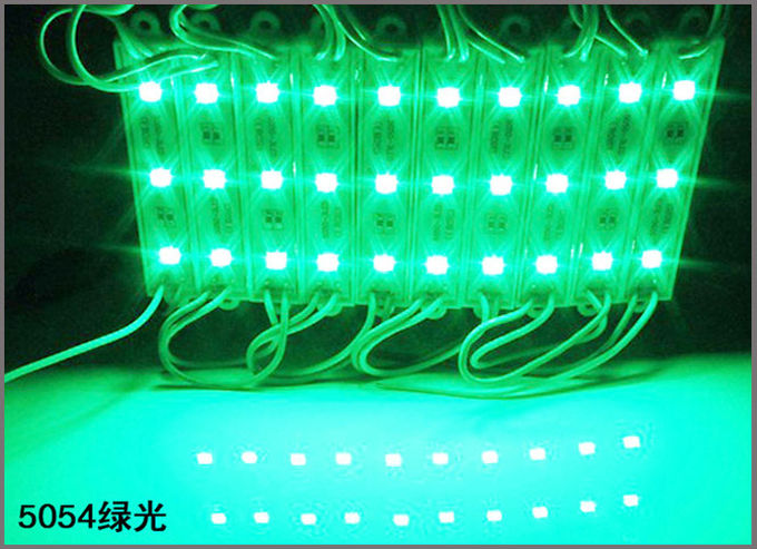 Competitive SMD 5054 3LED modules green color Waterproof Advertising Lamp DC 12V LED Illuminated signs